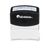 UNV10044 Message Stamp, COMPLETED, Pre-Inked/Re-Inkable, Blue Ink UNV 10044