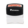UNV10046 Message Stamp, CONFIDENTIAL, Pre-Inked/Re-Inkable, Red UNV 10046
