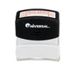UNV10067 Message Stamp, RECEIVED, Pre-Inked/Re-Inkable, Red UNV 10067