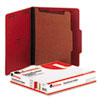 UNV10203 Pressboard Classification Folders, Letter, Four-Section, Ruby Red, 10/Box UNV 10203