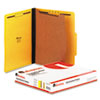 UNV10204 Pressboard Classification Folders, Letter, Four-Section, Yellow, 10/Box UNV 10204