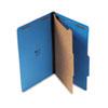 UNV10211 Pressboard Classification Folders, Legal, Four-Section, Cobalt Blue, 10/Box UNV 10211