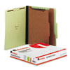 UNV10271 Pressboard Classification Folder, Letter, Six-Section, Green, 10/Box UNV 10271