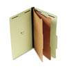 UNV10281 Pressboard Classification Folder, Legal, Six-Section, Green, 10/Box UNV 10281