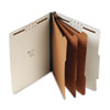 UNV10292 Pressboard Classification Folder, Letter, Eight-Section, Light Green, 10/Box UNV 10292