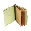 UNV10293 Pressboard Classification Folder, Letter, Eight-Section, Gray-Green, 10/Box UNV 10293
