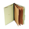 UNV10296 Pressboard Classification Folder, Legal, Eight-Section, Green, 10/Box UNV 10296