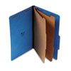 UNV10311 Pressboard Classification Folders, Legal, Six-Section, Cobalt Blue, 10/Box UNV 10311