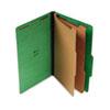 UNV10312 Pressboard Classification Folders, Legal, Six-Section, Emerald Green, 10/Box UNV 10312