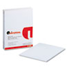 UNV11000 Glue Top Writing Pads, Wide Rule, Letter, White, 50-Sheet Pads/Pack, Dozen UNV 11000