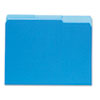 UNV12301 Recycled Interior File Folders, 1/3 Cut Top Tab, Letter, Blue, 100/Box UNV 12301