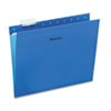 UNV14116 Hanging File Folders, 1/5 Tab, 11 Point Stock, Letter, Blue, 25/Box UNV 14116