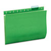 UNV14117 Hanging File Folders, 1/5 Tab, 11 Point Stock, Letter, Green, 25/Box UNV 14117