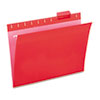 UNV14118 Hanging File Folders, 1/5 Tab, 11 Point Stock, Letter, Red, 25/Box UNV 14118