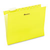 UNV14119 Hanging File Folders, 1/5 Tab, 11 Point Stock, Letter, Yellow, 25/Box UNV 14119