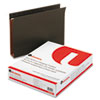 UNV14142 Two Inch Box Bottom Pressboard Hanging Folder, Letter, Standard Green, 25/Box UNV 14142