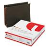 UNV14143 Three Inch Box Bottom Pressboard Hanging Folder, Letter, Standard Green, 25/Box UNV 14143
