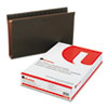 UNV14152 Two Inch Box Bottom Pressboard Hanging Folder, Legal, Standard Green, 25/Box UNV 14152