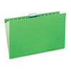 UNV14217 Hanging File Folders, 1/5 Tab, 11 Point Stock, Legal, Green, 25/Box UNV 14217