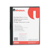 UNV20500 Plastic Report Cover w/Clip, Letter, Holds 30 Pages, Clear/Black UNV 20500