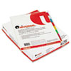 UNV20840 Economical Insertable Index, Multicolor Tabs, 8-Tab, Letter, Buff, 24 Sets/Box UNV 20840