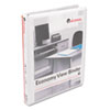 UNV20952 Round Ring Economy Vinyl View Binder, 1/2