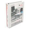 UNV20972 Round Ring Economy Vinyl View Binder, 1-1/2