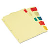 UNV21870 Economical Insertable Index, Multicolor Tabs, 5-Tab, Letter, Buff, 6 Sets/Pack UNV 21870