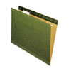 UNV24115 Reinforced Recycled Hanging Folder, 1/5 Cut, Letter, Standard Green, 25/Box UNV 24115