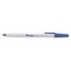 UNV27411 Economy Ballpoint Stick Oil-Based Pen, Blue Ink, Medium, Dozen UNV 27411