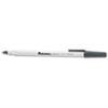 UNV27420 Economy Ballpoint Stick Oil-Based Pen, Black Ink, Fine, Dozen UNV 27420