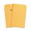 UNV35261 Kraft Clasp Envelope, Side Seam, 28lb, 6 1/2 x 9 1/2, Light Brown, 100/Box UNV 35261