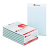 UNV35850 Colored Perforated Note Pads, Wide Rule, 5 x 8, Blue, 50-Sheet, Dozen UNV 35850