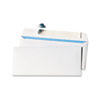 UNV36004 Pull & Seal Business Envelope, Security Tint, #10, White, 100/Box UNV 36004