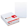 UNV41000 Glue Top Writing Pads, Narrow Rule, Letter, White, 50-Sheet Pads/Pack, Dozen UNV 41000