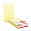 UNV50000 Glue Top Writing Pads, Wide Rule, Legal, Canary, 50-Sheet Pads/Pack, Dozen UNV 50000