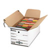 UNV751204 Economy Storage Box, Tie Close, Ltr, Fiberboard, White, 4/Carton UNV 751204