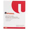 UNV80107 Laser Printer Permanent Labels, 2 x 4, White, 1000/Box UNV 80107