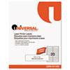 UNV81103 Laser Printer Permanent Labels, 1 x 4, Clear, 1000/Box UNV 81103