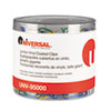 UNV95000 Paper Clips, Vinyl Coated Wire, Jumbo, Assorted Colors, 250/Pack UNV 95000