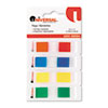 UNV99004 Page Flags, Assorted Colors, 35 Flags/Dispenser, 4 Dispensers/Pack UNV 99004