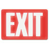 USS4792 Glow In The Dark Sign, 8 x 12, Red Glow, Exit USS 4792