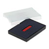 USSP4727BR Trodat T4727 Dater Replacement Pad, 1 5/8 x 2 1/2, Red/Blue USS P4727BR