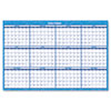 Reversible/Erasable Horizontal Format Dated Yearly Wall Planner, 36 x 24 - AVE00166