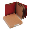 Pressboard 25-Point Classification Folder, Letter, 6-Section, Earth Red, 10/Box - ACC15036