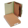 Pressboard 25-Point Classification Folders, Legal, 6-Section, Leaf Green, 10/Box - ACC16046