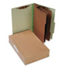 Pressboard 25-Point Classification Folders, Legal, 8-Section, Leaf Green, 10/Box - ACC16048