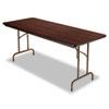Folding Table, Rectangular, 72w x 30d x 29h, Walnut - ALEFT726030WA