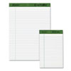 Perforated Recycled Pads, Jr. Legal Rule, 5 x 8, White, 12 50-Sheet Pads/Pack - AMP20152