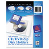 Self-Adhesive CD, DVD & Zip Disk Sleeve, Peel-Off Backing, Clear, 10/Pack - SPR-AVE73721